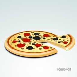 Menu Card with delicious Pizza on glossy background for Fast Food Restaurants.